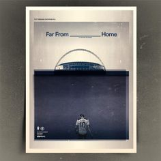 Beautifully executed typography posters are a sight to behold. Throw some football into the mix and its a full on ...
