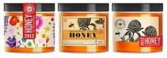 denniston apiary honey label, jar, packaging design