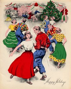 Holiday hoedown. Looks like the perfect country Christmas!