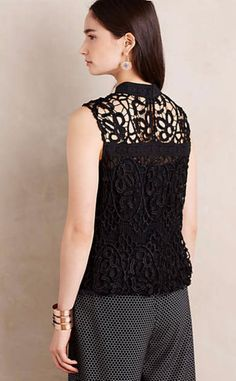 Moonlit Lace Shell #anthrofave