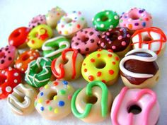 Assorted Miniature Polymer Clay Donuts. $10,00, via Etsy.