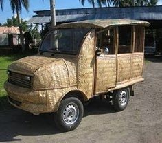 Collection Strange And Unique Car By P4cdh3 Bamboo Crafts Art Weird Cars