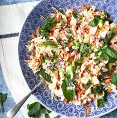 A delicious vegan coleslaw recipe complete with a creamy cashew nut dressing. Milk Tart, Vegan Coleslaw, Best Butter, Spinach Leaves, Tart Recipes, Butter Chicken, Food Print, Danish Pastries, Vegetarian Recipes