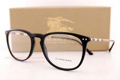 9ec58b9471e Brand New BURBERRY Eyeglass Frames BE 2258Q 3001 Black For Men Women Size 55