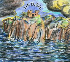Tintahgel (nach dem Tongedicht von Arnold Bax / after the tone poem of Arnold Bax), 2004 by J.G.Wind - - Die Zeichnung ist zudem Teil der Bilderserie um das Verlags-Logo des Bastei Verlages