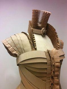 cardboard dress detail