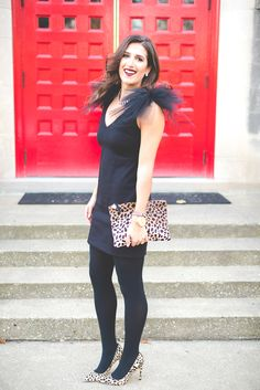camilyn beth opal dress, tulle dress, holiday dress, christmas dress, holiday style, holiday fashion, holiday outfit, dark lipstick, leopard pumps, calf hair pumps, clare v calf hair clutch // grace wainwright from a southern drawl
