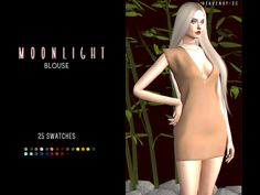 The Sims 4 Mody: Sukienki Moonlight Blouse od Heavendy-cc