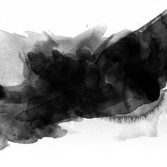 Abstract background with black watercolour stain Free Vector