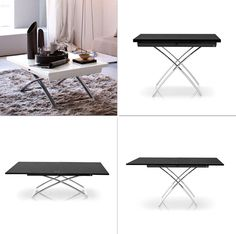 The white one is perfect!  coffee tables that convert to dining tables by calligaris
