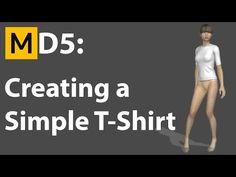 Marvelous Designer 5 Tutorial - Creating a T-Shirt - YouTube