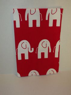 Red and White Elephant Tea Towel by amyswindleenglish on Etsy, $8.00