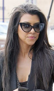 I am obsessed with the cateye sunglasses a la Kourtney Kardashian...