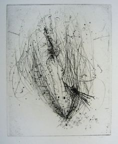 Illustration? from'Jean Paul sartre, Nourritures, Suivi d'extraits de la Nausee'  Alfred Wolfgange Wols  Gravure/Dry Point Etching