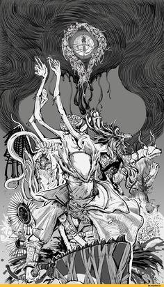 BloodBorne, Dark Souls, fandom, cleric beast, Vicar Amelia, BB characters, Amygdala, Ebrietas, Celestial Emissary, Moon Presence, Plain Doll, Doll, Hunter (Bloodborne), Messengers, Gehrman the First Hunter, BB art