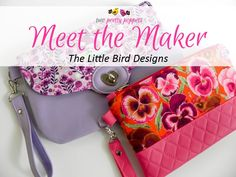 Meet the Maker - The Little Bird Designs - Andrie Designs Paper and PDF bag patterns Handmade bags Sewing Hacks, Sewing Tips, Gorgeous Fabrics, Bird Design, Handmade Bags, Meet, Bag Patterns, Creative, Pretty