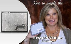 How to create the Frosted Vellum technique for Christmas Cards featuring Stampin Up Woodlands Folder on Vimeo