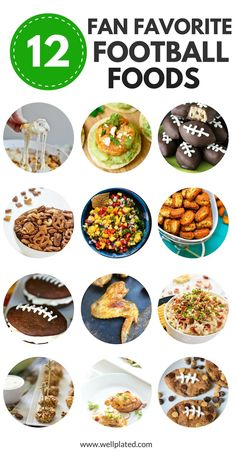 12 Fan Favorite Football Foods. Every recipe on this list is easy to make and perfect for a game watch!   www.wellplated.com @wellplated Tasty Vegetarian Recipes, Best Vegan Recipes, Good Healthy Recipes, Favorite Recipes, Dip Recipes, Best Football Food, Football Recipes, Football Snacks, Easy To Make Appetizers