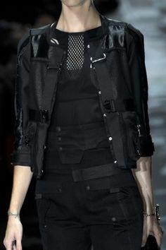 Futuristic, goth, future fashion, futuristic clothing, cyber goth, black clothing, futuristic style by FuturisticNews.com