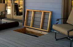 patio storage ideas built in hatch door