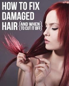 Is your damaged hair getting you down? Then check out our damaged hair guide with DIY tips for repairing your hair to its original gorgeous state! Curly Hair Styles, Natural Hair Styles, Natural Beauty, Damaged Hair Repair, Hair Remedies, Natural Remedies, My Hairstyle, Pixie, Tips Belleza