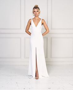 Blake by Jane Hill Bridal Moroccan Rose 2019 Collection Jane hill wedding gowns modern wedding dresses modern minimalist wedding dress minimalist wedding dress fashion. Wedding Dress Black, Indie Wedding Dress, Muslim Wedding Dresses, Western Wedding Dresses, Wedding Dress Trends, Wedding Dress Shopping, Chic Wedding, Wedding Dress Petite, Autumn Wedding