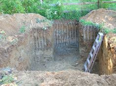 Building a root cellar, step by step.