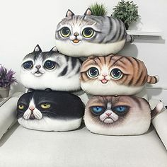 1Pc 3D Printing Cat Pattern Pillow Sofa Cushion New Style Throw Pillow 2018 - £11.59