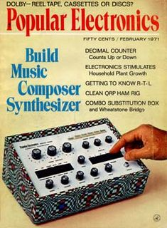 Synthesizer plans, 1971.