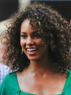 Alicia Keys Curly Hair