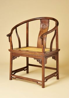 A reproduction Chinese Bow Back Chair. Chinese Furniture, My Furniture, Handmade Furniture, Dollhouse Furniture, Furniture Design, Asian Chairs, Rattan Rocking Chair, Chinese Interior, Bentwood Chairs