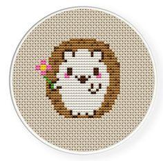 Cute simple hedgehog crosstitch