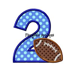 Digital Machine Embroidery Design Number 2 with Football
