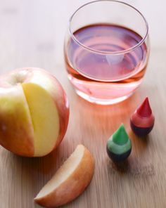 Taste Perception: Taste 3 colors of apples. After, color apple juice in 3 cups: red, yellow, green. Predict flavor. Taste. Talk about results. Predictions relate to past flavor experiences based on color.