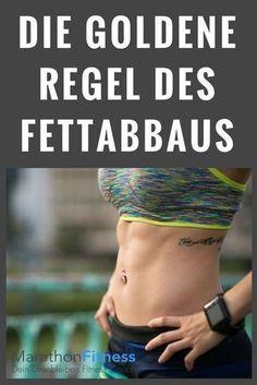 Die goldene Regel des Fettabbaus - Je ausgeprägter die negative Energiebilanz, desto effektiver der Fettabbau im Körper. Fitness Workouts, Gewichtsverlust Motivation, Fitness Diet, Health Fitness, Fat Workout, Enjoy Fitness, Exercise Workouts, Family Fitness, Exercise Equipment