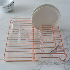 W E S T  E L M | Wire Kitchen Foldable Dish Rack $39