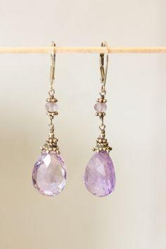Purple :) #bride #purple #amethyst #gemstone #jewelry #earrings #silver