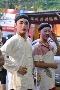 Chinese Opera actors in Penang