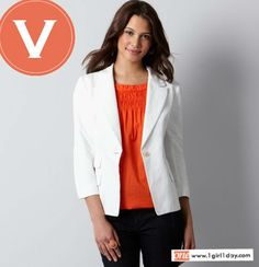 Hello Monday. How about a crisp white summer blazer to pull yourself together this work week? Try this 3/4 sleeve cutie from LOFT.  www.facebook.com/onegirloneday