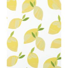 Serena & Lily Lemons Wallpaper - White (625 DKK) ❤ liked on Polyvore featuring home, home decor, wallpaper, backgrounds, white wallpaper, country home decor, white home accessories, country style home decor and white home decor