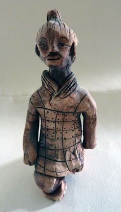 This project is a great way to tie art and history together, if you are studying China or Asian cultures in your classroom, you can create an army of terracotta warriors with your class.