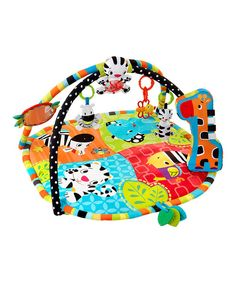 Take a look at the Bright Starts Spots & Stripes Safari Gym Mat on #zulily today!