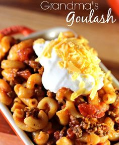 Grandma's Goulash - A classic old fashioned comfort food recipe that's super easy to make!