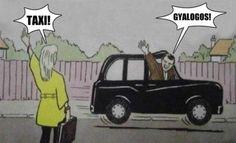 Taxi vs. gyalogos
