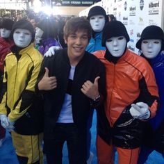 "243.4k Likes, 3,079 Comments - Austin Mahone (@austinmahone) on Instagram: ""Met the Jabbawockeez! They didn't say one word lol 😶"""