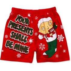 family guy novelty boxer shorts - things men should never wear<<<< but these are so darn sexy