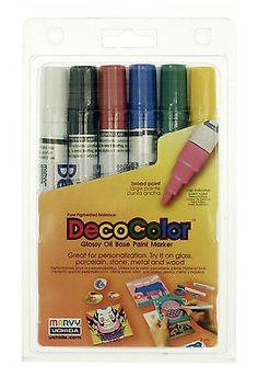 Marvy Uchida DecoColor Model # 300-6A Primary Colors 6-Piece Set NIP