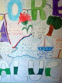Tejas Verdes: Mural Colores de Andalucía Infant Crafts, Roof Tiles, Colors, 2nd Trimester, Educational Games, February, School