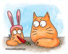 Era uma vez um gatinho que não estava entendo nada... (tive q rir)