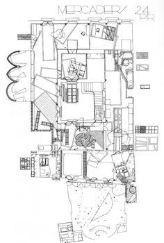 Plano del Mercado de Barcelona de EnricMiralles